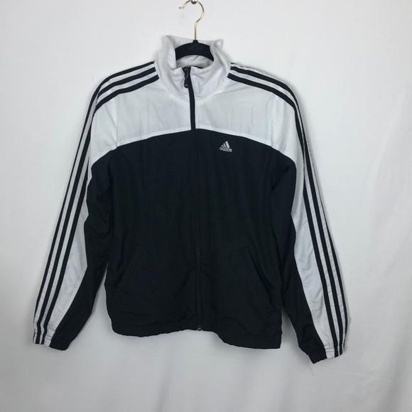 Adidas giacche e cappotti in bianco e nero strisce triplo binario giacca